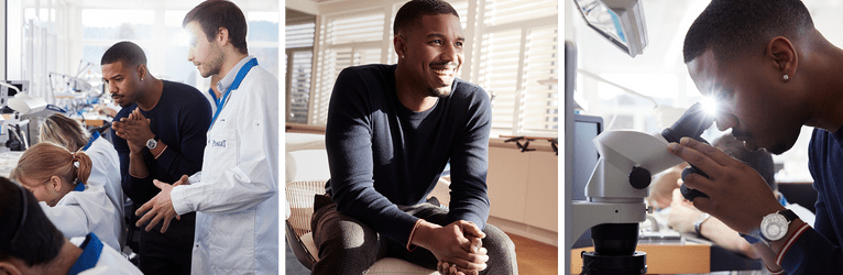 Michael B. Jordan wearing a Piaget ultra-thin white gold watch