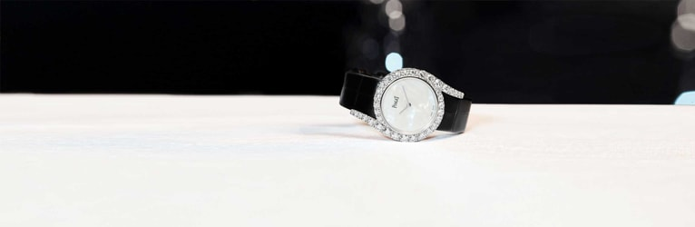 white gold diamond luxury women watch