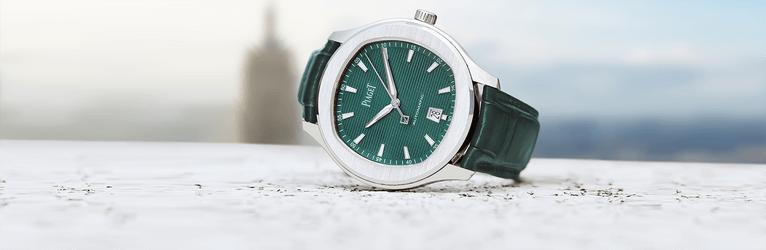 Die Piaget Polo S Uhr mit Gehäuse aus Edelstahl