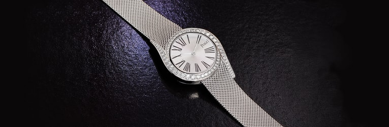 Gala white gold and diamond watch for women