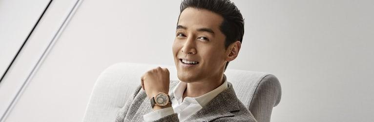 Hu Ge with an altiplano luxury men watch