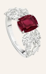 diamond and ruby high jewellery ring