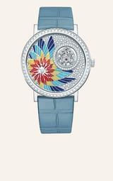 High Jewellery mother-of-pearl white gold diamond watch