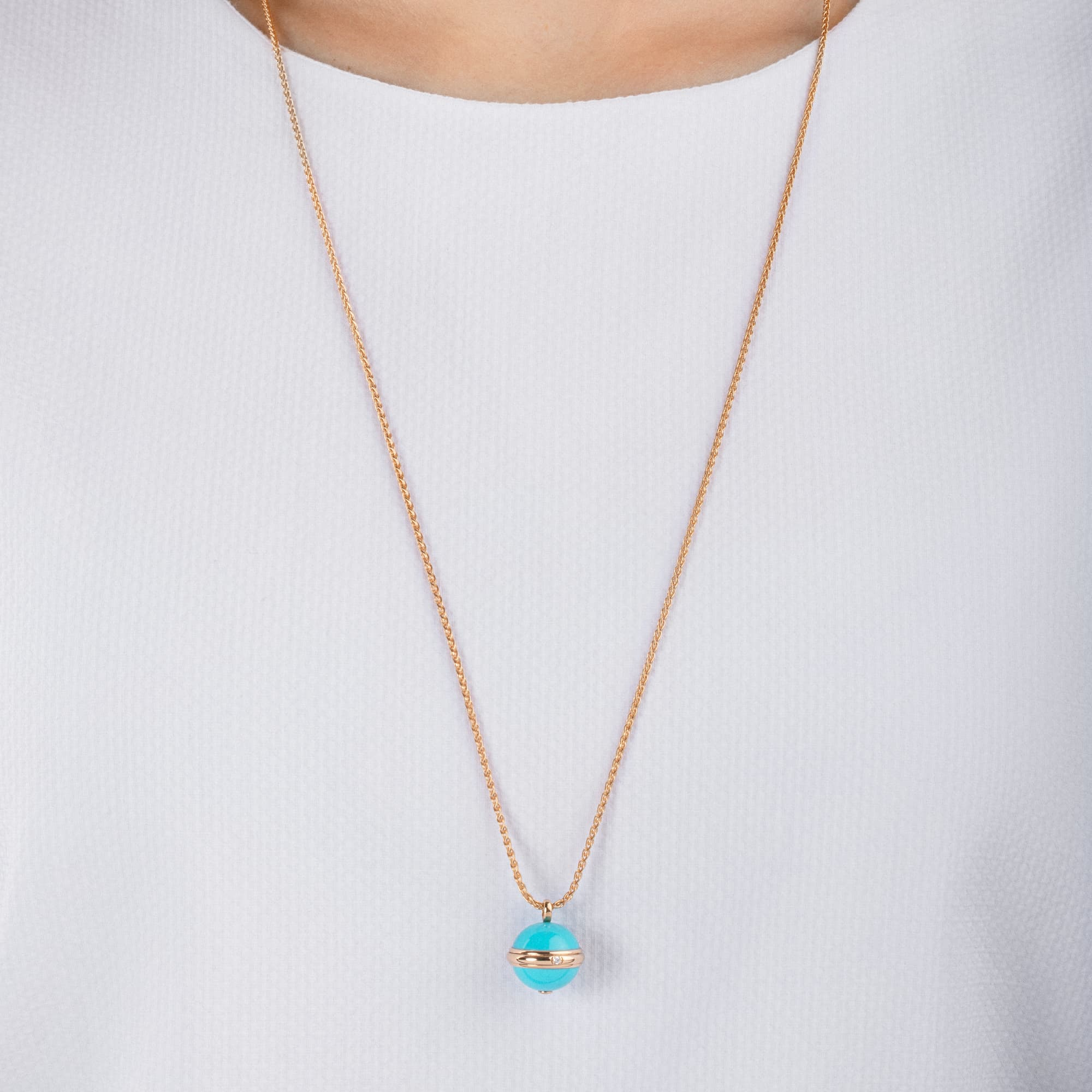 Sold  As Pictured OOAK Rose Gold Electroplated Stabilized Chinese Turquoise Freeform Shaped Two Loop Pendant 065 ~ 65mm x 38mm