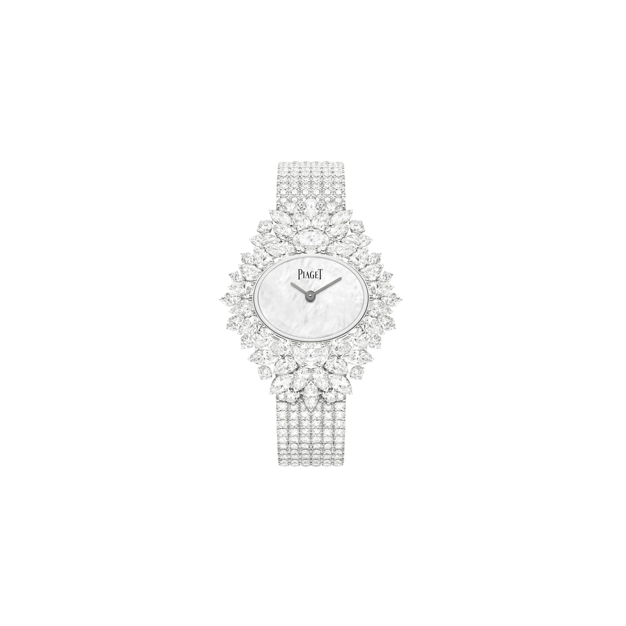 high jewellery white gold diamond watch