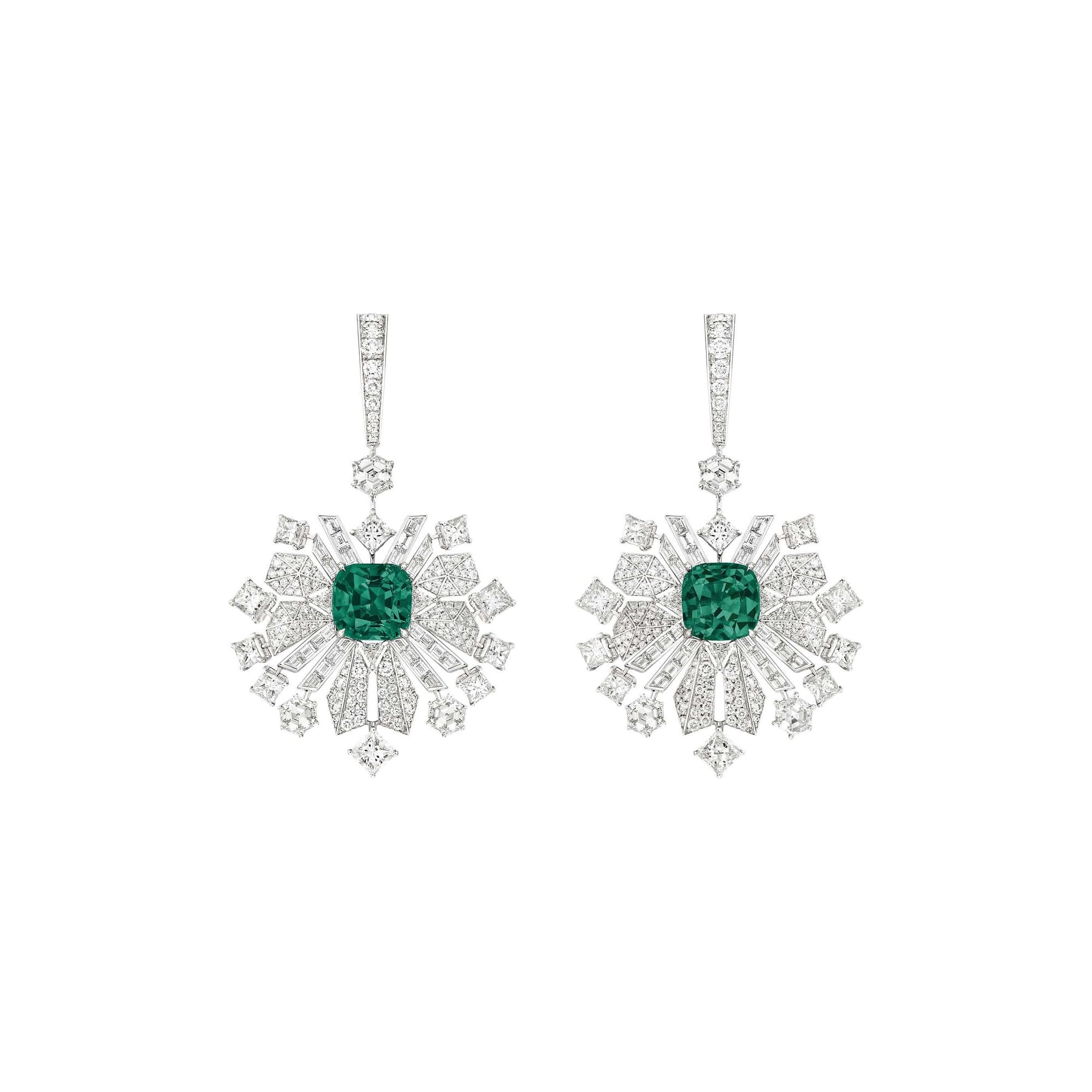 piaget high jewellery diamond earrings