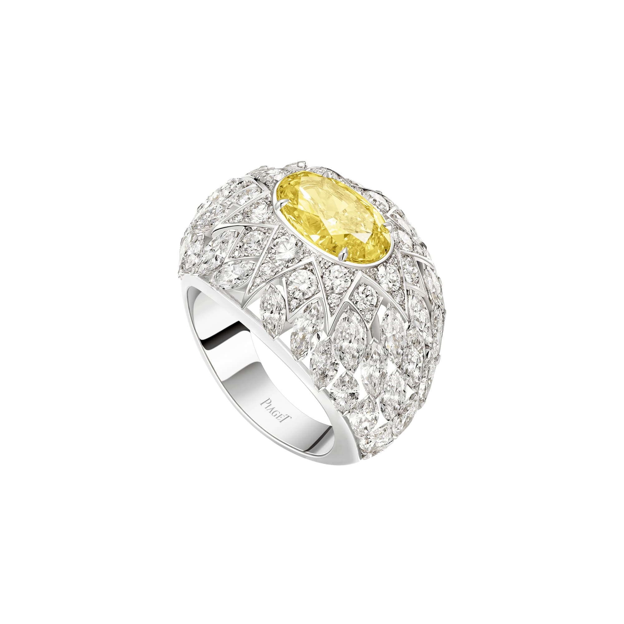golden oasis white gold diamond ring
