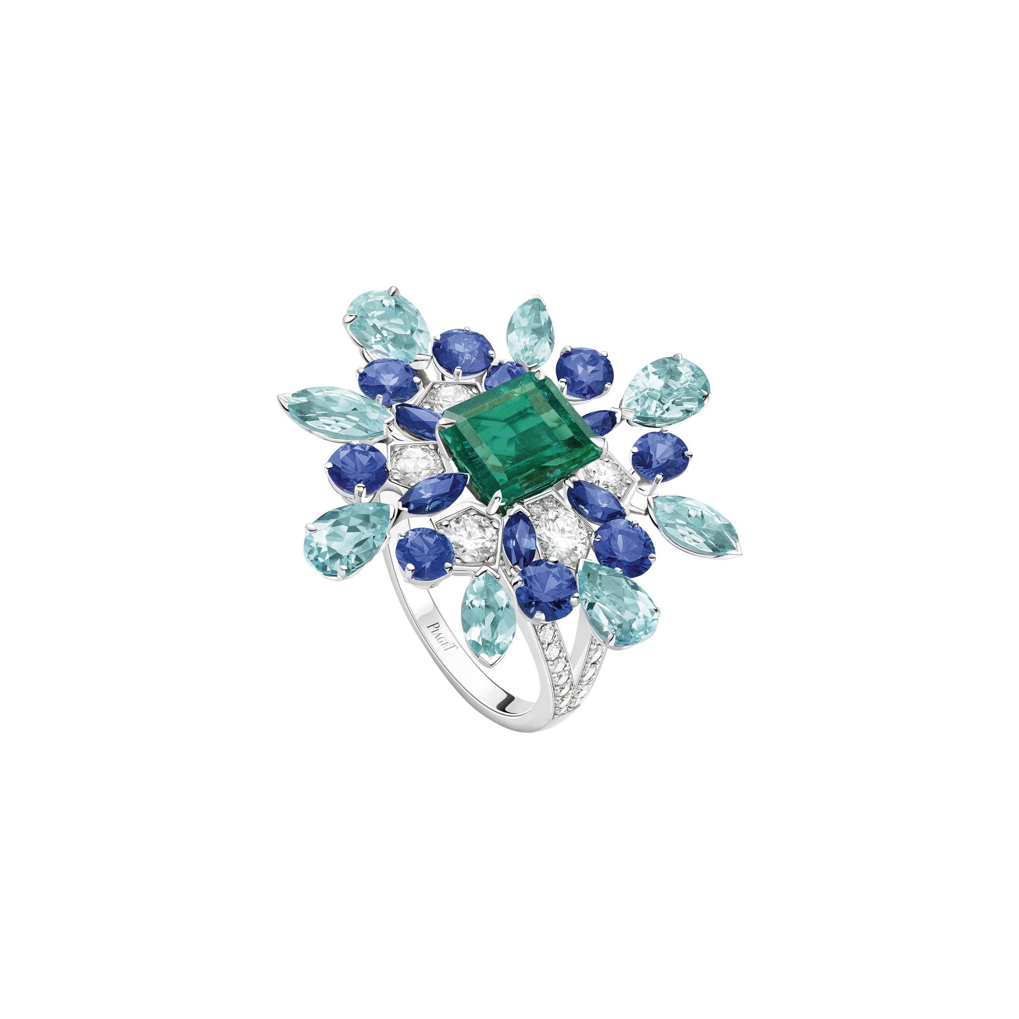 high jewellery precious stones ring