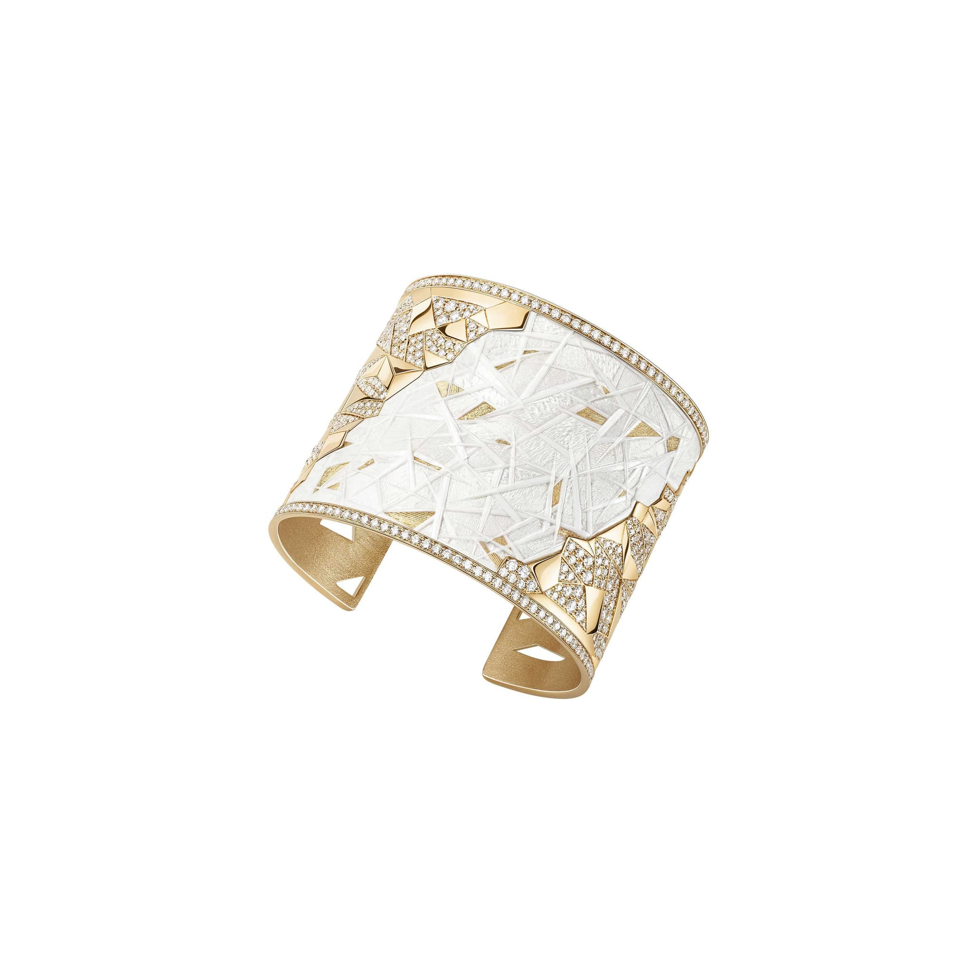 yellow gold high jewellery cuff bracelet