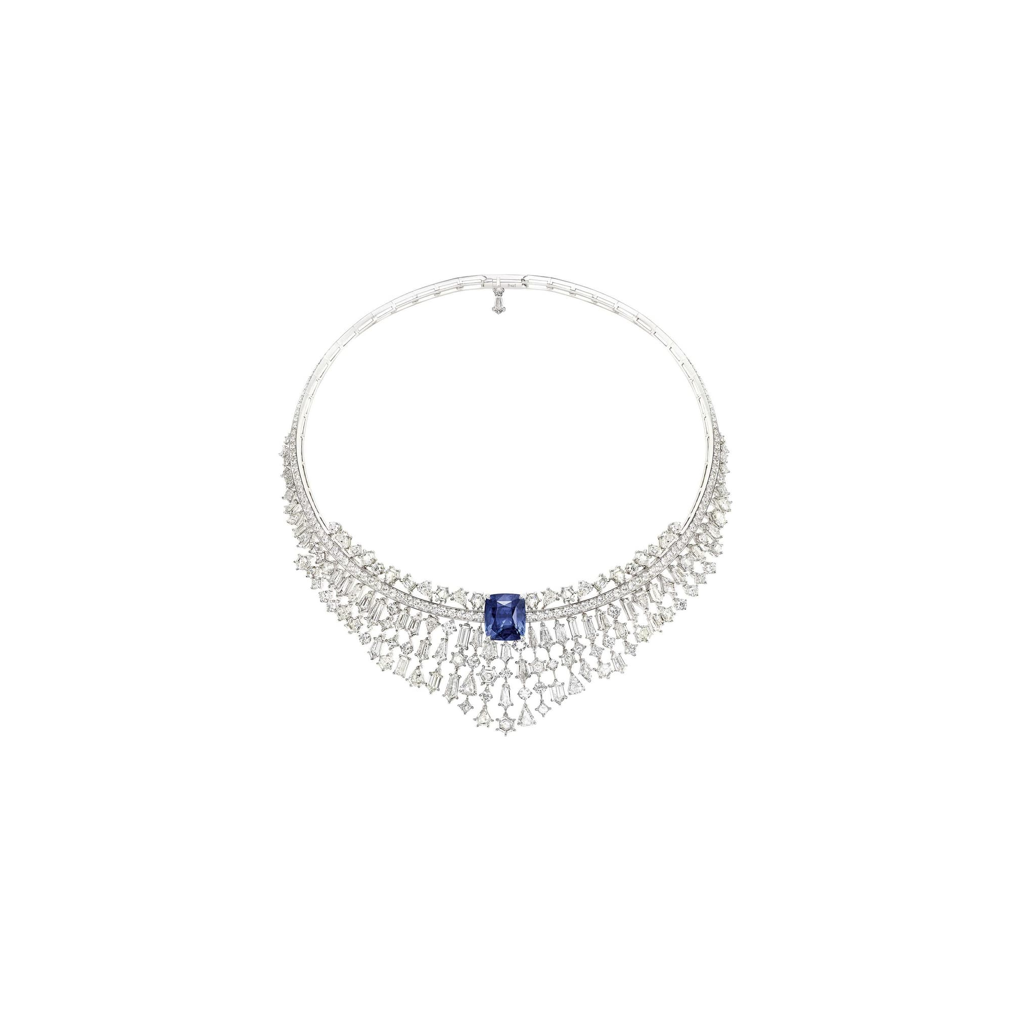 piaget high jewellery diamond sapphire necklace