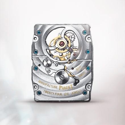 피아제 600P 울트라-씬 기계식 핸드 와인딩 뚜르비옹 무브먼트