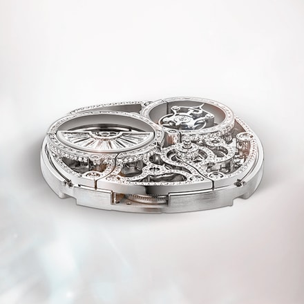 Movimiento relojero de lujo Piaget: esqueleto tourbillon ultraplano
