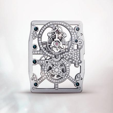 Piaget 600D Grey ultra-thin hand-wound mechanical skeleton tourbillon movement