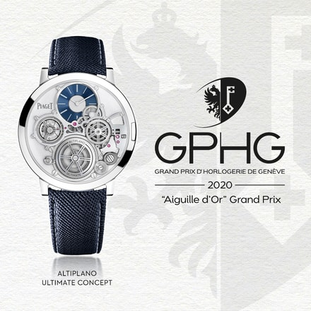 Aiguille d'Or winner: Piaget Altiplano Ultimate Concept mechanical watch