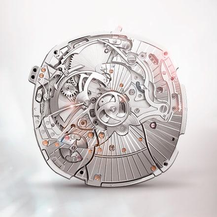 伯爵製1290P三問報時腕錶機芯