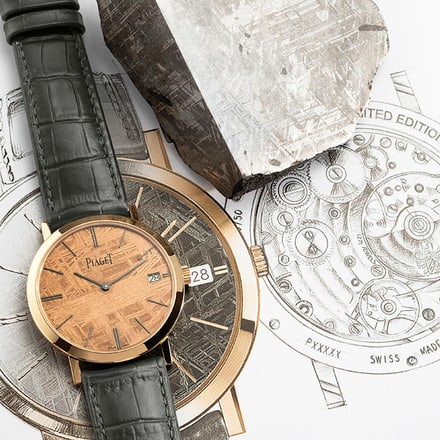 ultra-thin rose gold watch for men