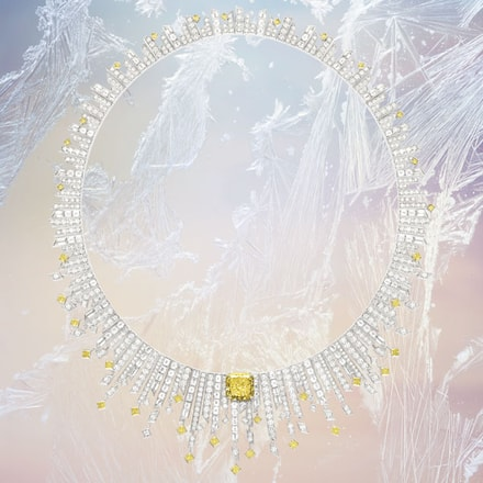 High jewellery vivid yellow diamond necklace