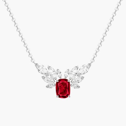 high jewellery necklace with diamonds and rubies