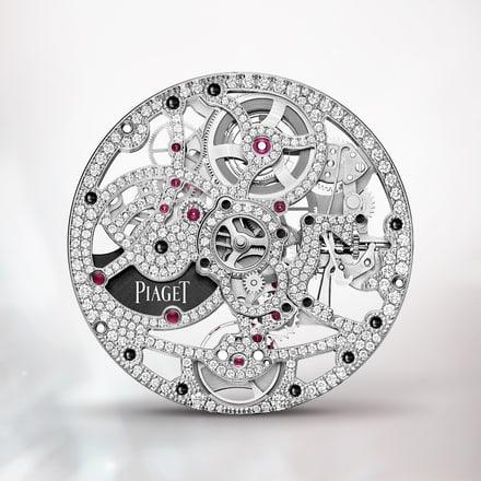 Piaget 1200D1 white gold gem-set ultra-thin skeleton movement
