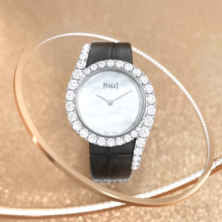 montre en or blanc et diamants limelight gala
