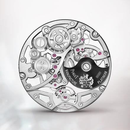 Piaget 1200D1 white gold ultra-thin skeleton watch movement