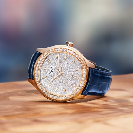 montre piaget en or rose et diamants