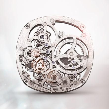피아제 1270S 뚜르비옹 스켈레톤 시계 무브먼트