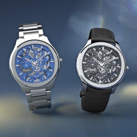 Relojes esqueleto de acero de lujo