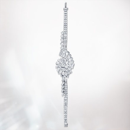 diamond paved high jewellery watch