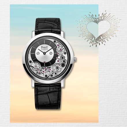 White gold ultra-thin watch for Valentine's day gift