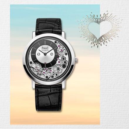 Reloj de oro blanco ultraplano para regalar en San Valentín