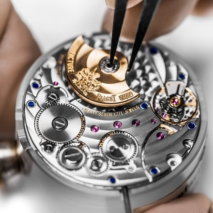 Piaget ultra-thin watch and mechanical movement
