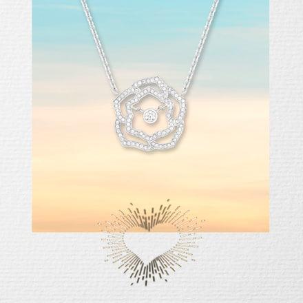 Pendentif en or blanc et diamants à offrir pour la Saint-Valentin