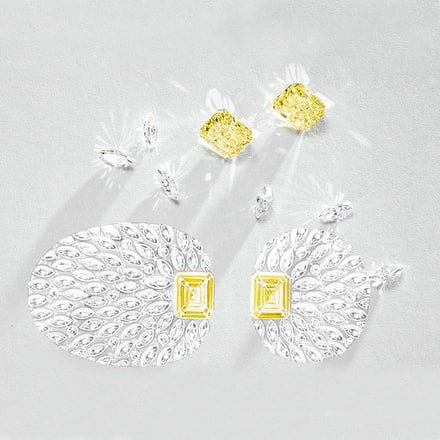 High Jewellery vivid yellow diamond watch