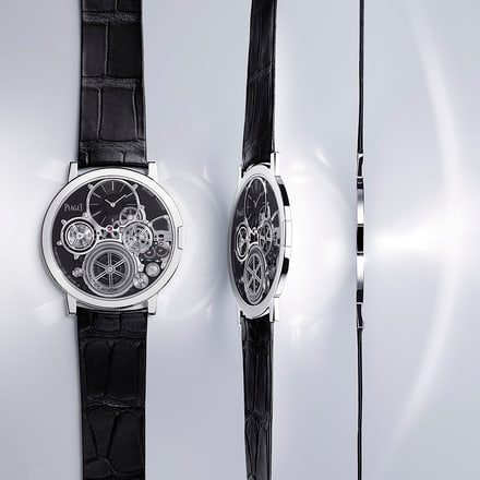 Altiplano ultra-thin white gold watch
