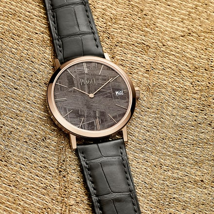 altiplano rose gold watch for men