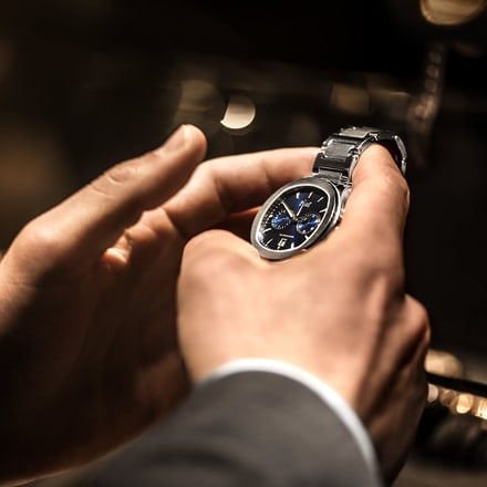 control de las funciones de un reloj de lujo Piaget