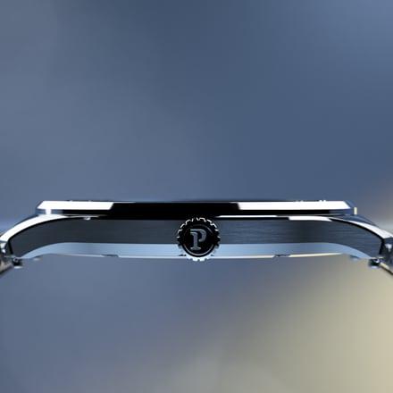 El grosor del reloj esqueleto Piaget Polo
