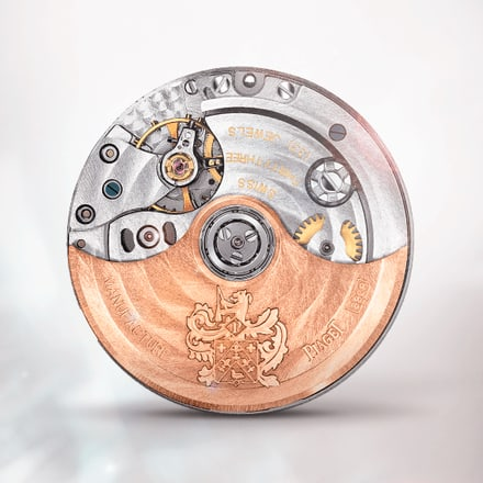 Ultraflaches mechanisches Chronographenwerk in Roségold Piaget 882P
