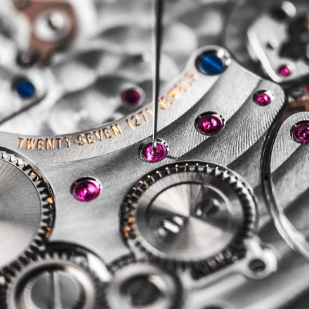 luxury watch movement reassembling
