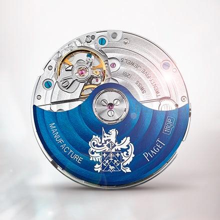 伯爵製1110P藍色自動上鍊機械機芯