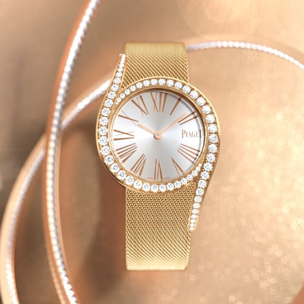piaget rose gold automatic diamond watch