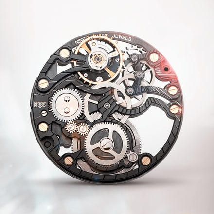 Piaget 838S Black ultra-thin hand-wound mechanical skeleton movement