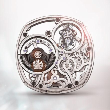 피아제 1270S 울트라-씬 기계식 오토매틱 뚜르비옹 스켈레톤 무브먼트