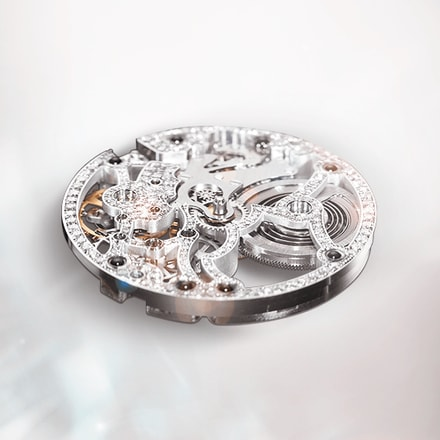 Piaget luxury watch movement: skeleton ultra-thin