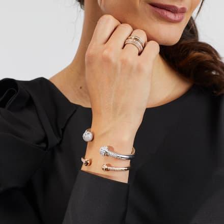 rose gold diamond bangle bracelets for women