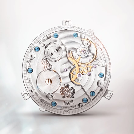Movimiento Piaget 836P de cuerda manual con horas saltantes