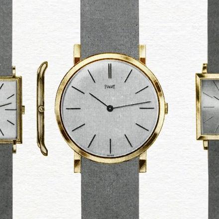 Ultraflache Luxusuhr aus Gold