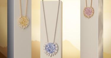Sapphire diamond pendants for women