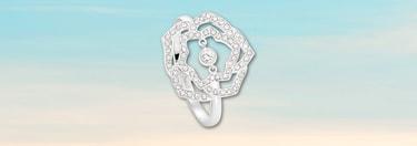 White gold diamond ring for Valentine's day